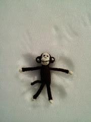 Cheeky Little Monkey snow angel