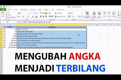 Cara Merubah Angka Menjadi Terbilang di Ms. Excel (MUDAH!)