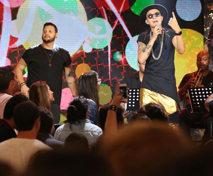 MC Guimê participa da gravação do programa Altas Horas (Foto: Carol Caminha/Gshow)