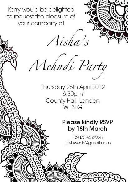 Henna party invitation design ? /// The Curious Londoner