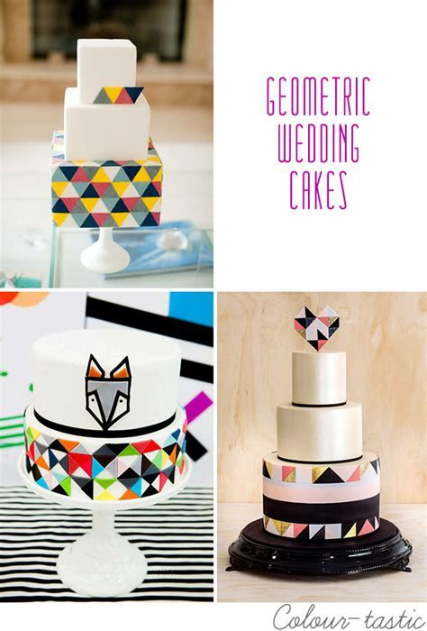 Hip to Be Square   Geometric Wedding Cakes   OneFabDay.com