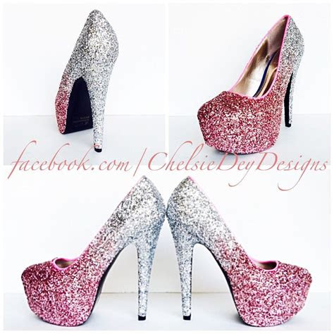 glitter high heels blush pink pumps light pink silver