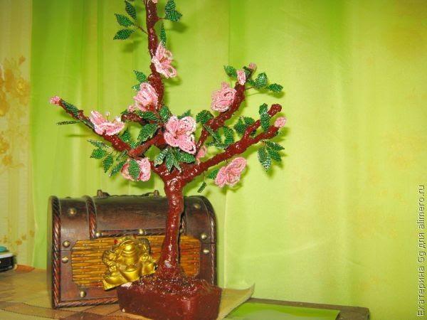 Мастер класс Цветущее дерево из бисера / Хенд мейд