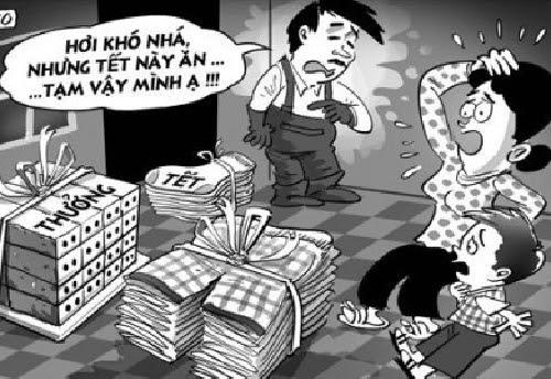 DN, xin-tiền, Tết, ăn-Tết, lừa-đảo, đòi-tiền, tống-tiền, khó-khăn, lương, thưởng, cuối-năm