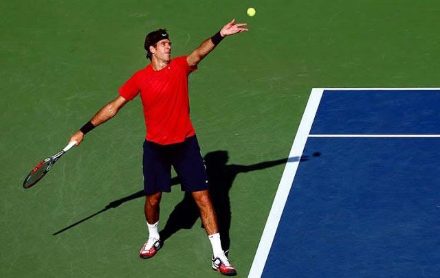 Tenis |  Del Potro venció a Serra en su debut en el Abierto de Estados Unidos