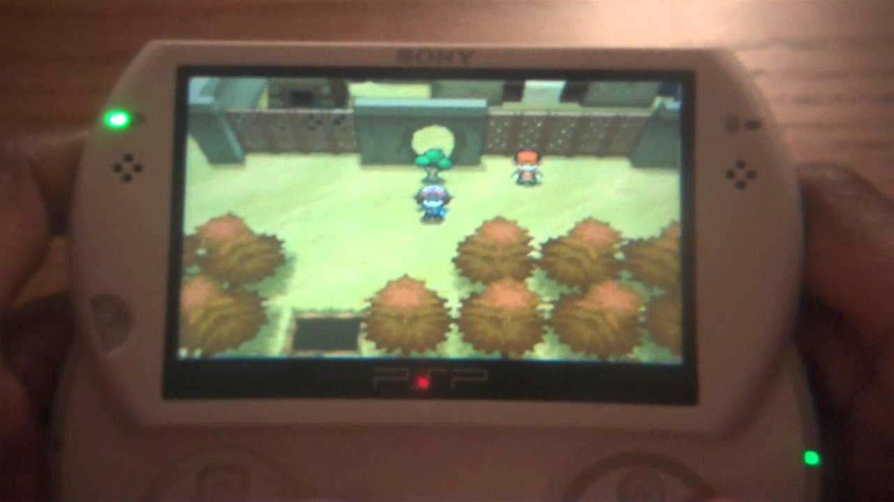 Playing Pokemon White or Black on PSP Go  YouTube