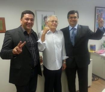 Sérgio Viana (da esq, para direita) e Flávio Dino
