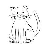 cartoon cat face eyes clip art stock illustration