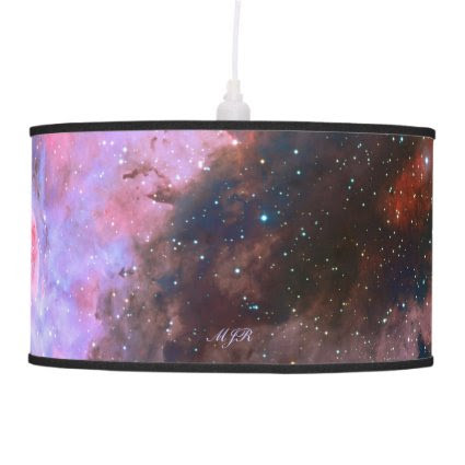 Monogram Carina Nebula, deep space astronomy Hanging Lamps