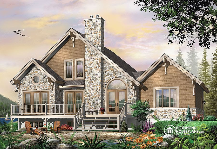 The Touchstone house  plan  2957 Affordable Modern