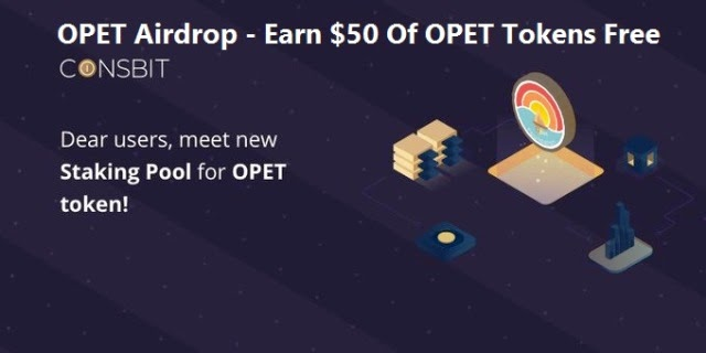 OPET Airdrop On Coinsbit Exchange – Earn $50 Of OPET Tokens Free