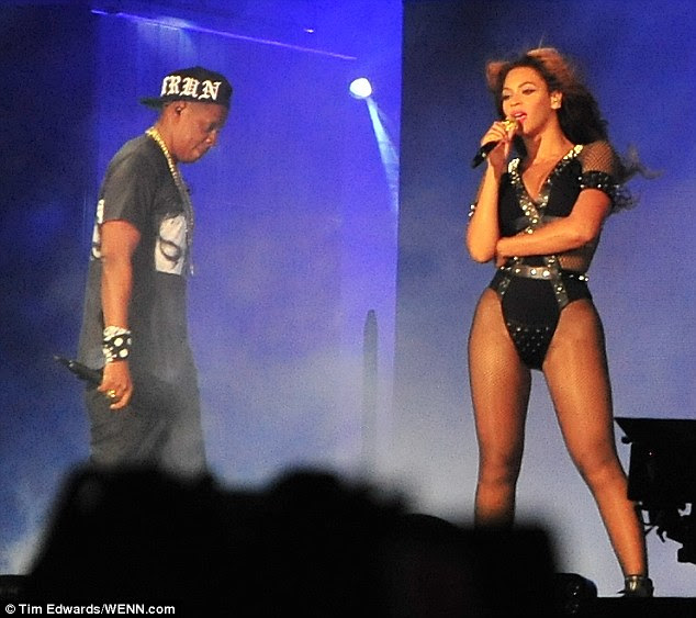 Still going: The power couple are on the European leg of their whirlwind On The Run tour together