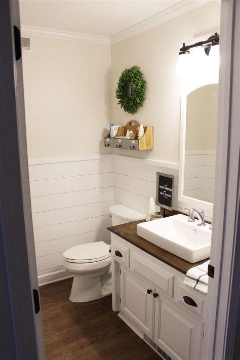 shiplap wainscoting    bathroom  karly