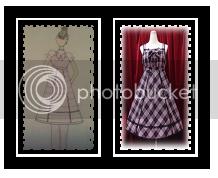 HimeBlackOnyx, Inspiration: Original Tartan Check JSKStyle: HimeColor: Pastel (pink, lavender or blue)Elements: baby doll, princess seam skirt, back shirring, corset lacingCoordinate:·         blouse·         wrist cuffs·         neck bow·         pearl crown·         earrings·         A-line petticoathttp://isleofmilkandhoney.blogspot.tw/2012/07/project-lolita-challenge-1-design.html