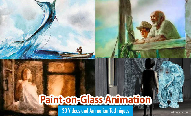 Paint on Glass animation