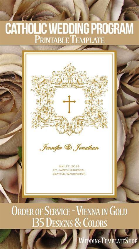 Catholic Wedding Programs, DIY Templates, Order of Service