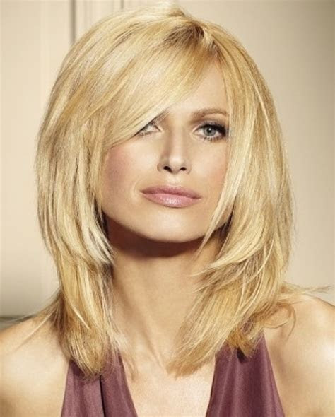 layered hairstyles  thick hair women hairstyles