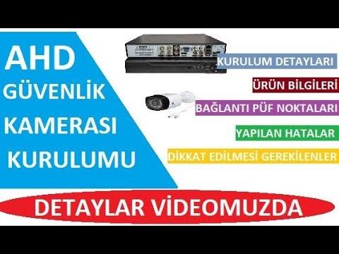 AHD Güvenlik Kamerası Sisteminizi Evde Kendiniz Kurun, AHD Kamera Sistemi Kurulumu, AHD,DVR
