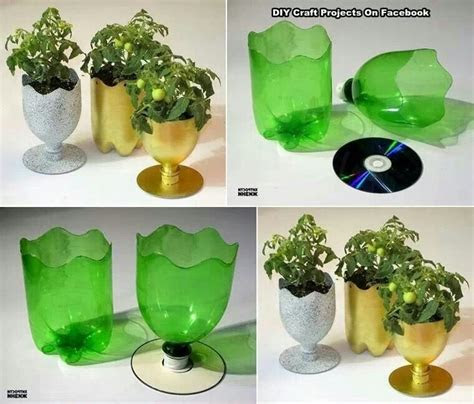 dyi planter cd liter bottle library craft ideas