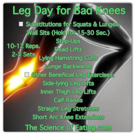 bad knees    leg day workout