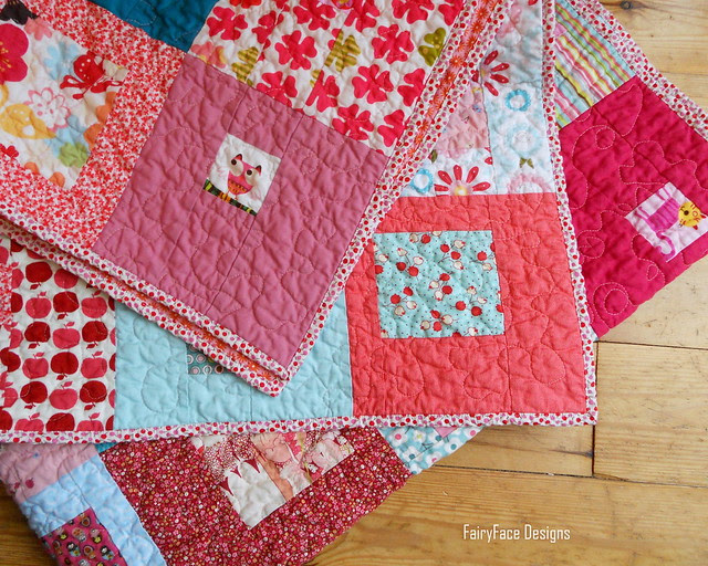 I Spy a Square Quilt folded