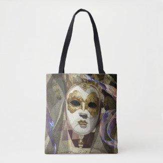 Venetian Mask Tote