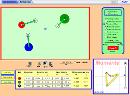 Screenshot of the simulation Collision Lab