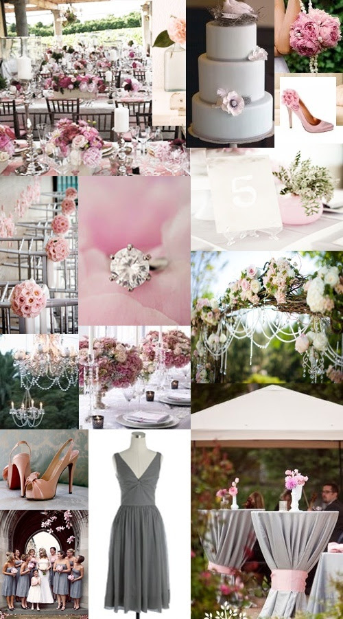 #blush pink and gray wedding... Wedding ideas for brides, grooms, parents & planners ... https://itunes.apple.com/us/app/the-gold-wedding-planner/id498112599?ls=1=8 … plus how to organise an entire wedding, without overspending ♥ The Gold Wedding Planner iPhone App ♥