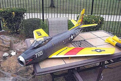 Uno de los aviones a control remoto que se pretendían usar en el atentado. | AFP