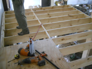More Floor Joists Extending the Floor