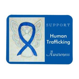 Human Trafficking Awareness Ribbon Angel Magnet