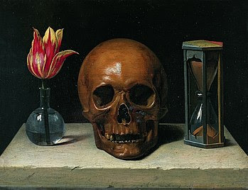Still-Life with a Skull, vanitas painting.