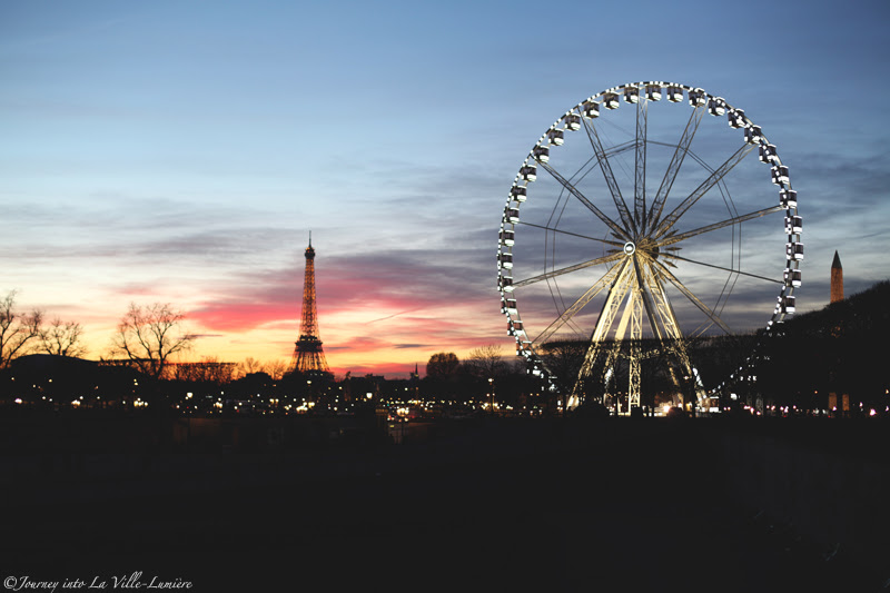 Sunset over the Jardin des Tuileries