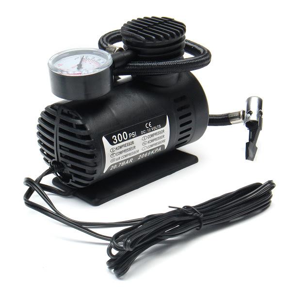 Portable Mini Air Compressor Vehicle Electric Tire Infaltor Pump 12 Volt Car 12v 300 Psi