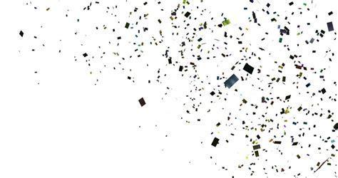 Falling Gold Glitter Foil Confetti, Animation 3d Movement
