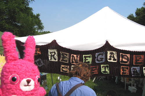 Fuzzy Bunny goes to the renegade craft fair!
