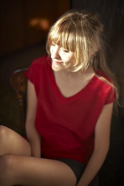 1385 - Silk Red V-Neck Shirt