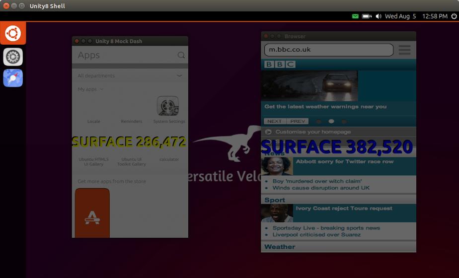 Unidade 8 está parecendo cada vez mais como um desktop DE