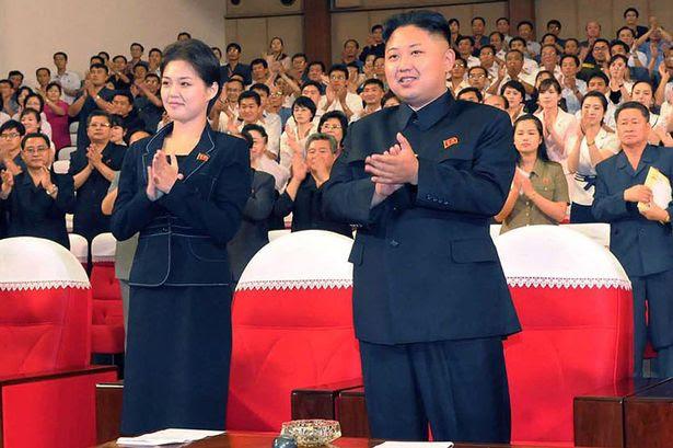 Dictator: Kim Jong-un and wife Ri Sol-ju