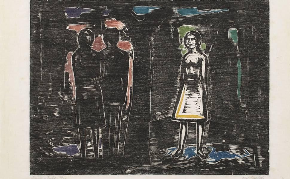 """O MAM estreia nesta sexta-feira (15) a maior retrospectiva do expoente do expressionismo no Brasil Oswaldo Goeldi (1895-1961). Entre os destaques, está a obra """"Sonâmbula"""" (sem data) Leia mais"""