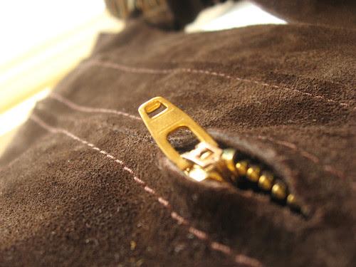 suede zip