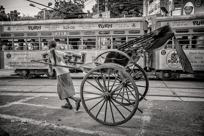 Richshaw puller in Calcutta