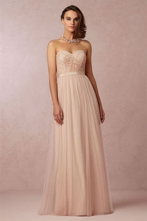 blush bridesmaid dress   has the option to have straps