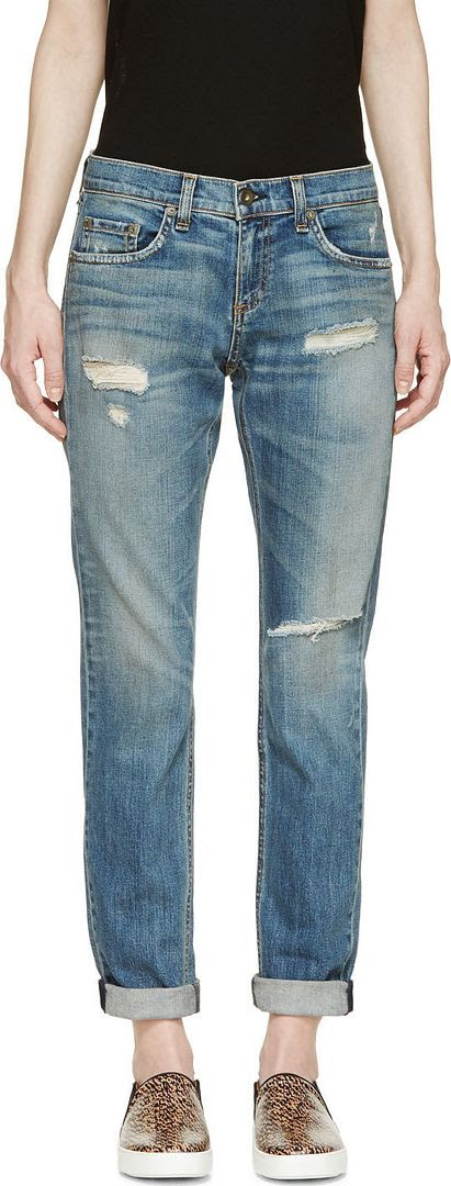 Rag and Bone Blue The Dre Boyfriend Jeans