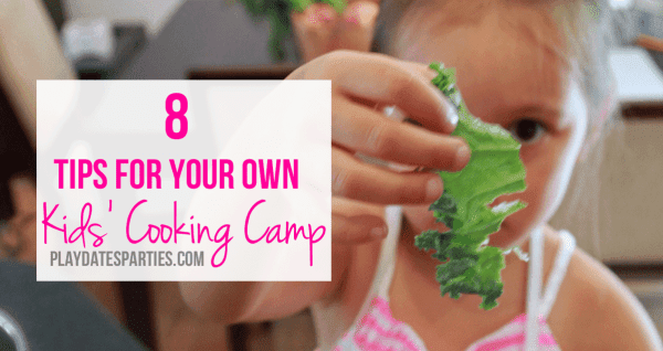 Want to teach your kids to cook? With a little bit of planning and some creativity, you can have your own kids cooking camp at home this summer!