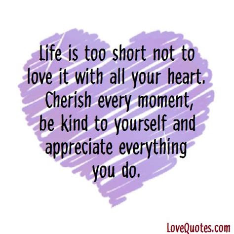Life Too Short Love Quotes