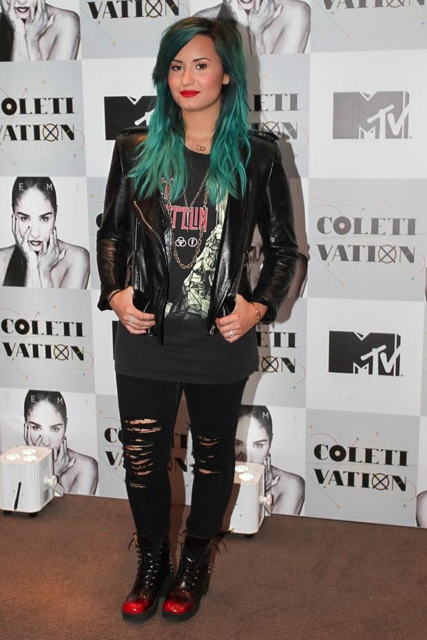 Demi Lovato em SP (Foto: Manuela Scarpa /Foto Rio News)