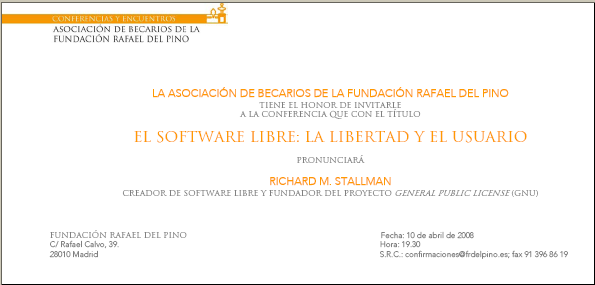 Conferencia de Stallman