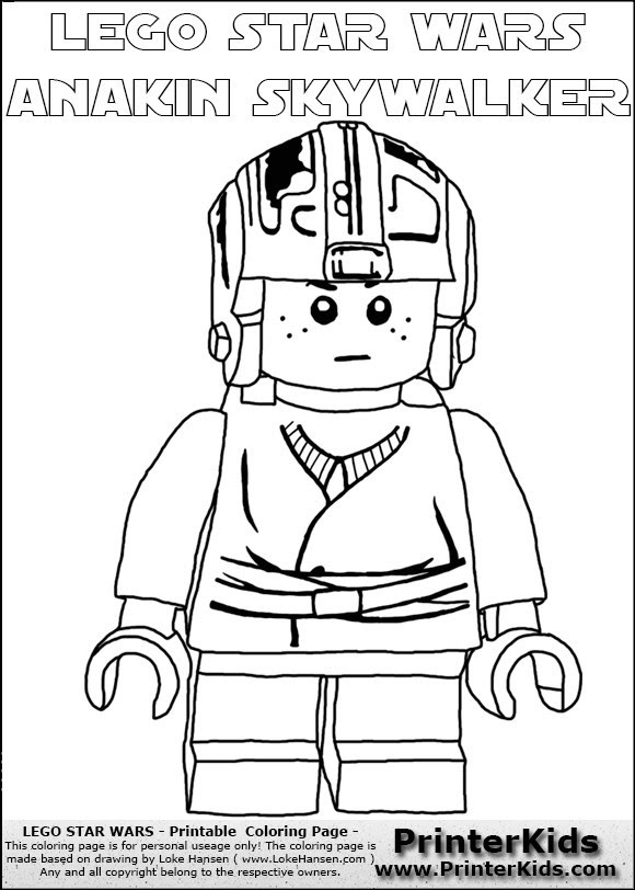 Lego Luke Skywalker Coloring Pages At Getdrawingscom Free For