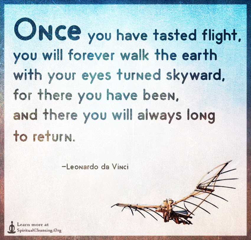 Once You Have Tasted Flight You Will Forever Walk The Earth With